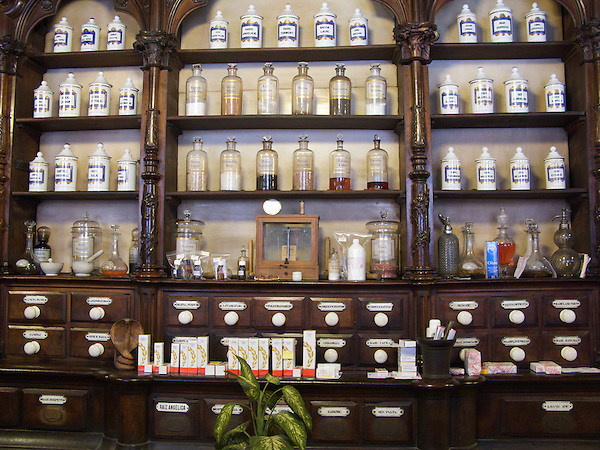In the centre of Leon there were some very old shops. This pharmacy near the cathedral had been in operation for a long time and had some of the original medicine bottles on display. (Richard McCaig)