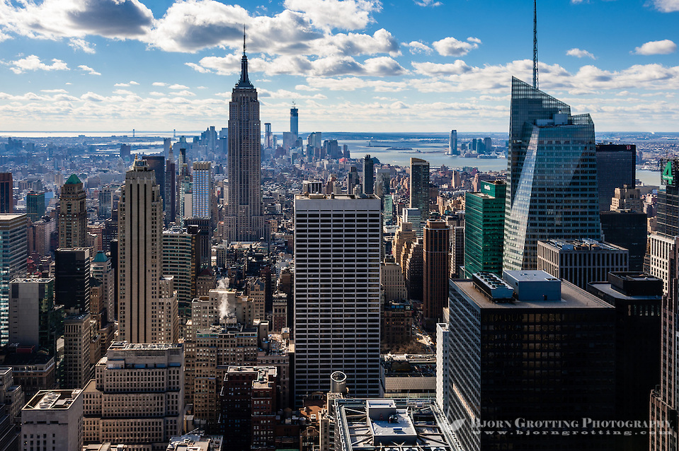 US, New York City. View from Top of the Rock Observation Deck, 30 Rockefeller Plaza. (Photo Bjorn Grotting)