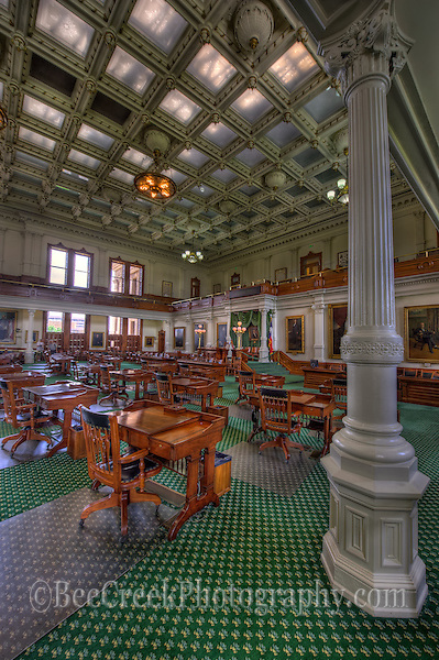 Texas Senate chamber, Texas State Capital (Bee Creek Photography)