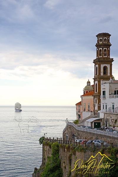 "Tall ship leaving Almafi Coast at Atrani Italy (© Daryl Hunter's ""The Hole Picture""/Daryl L. Hunter)"