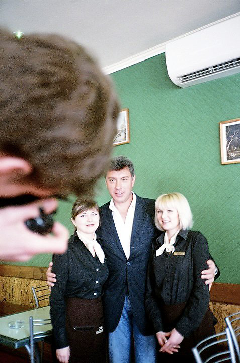 Boris Nemtsov during the Sochi's mayor election campaign. Sochi, March 2012 (Anna Nistratova)