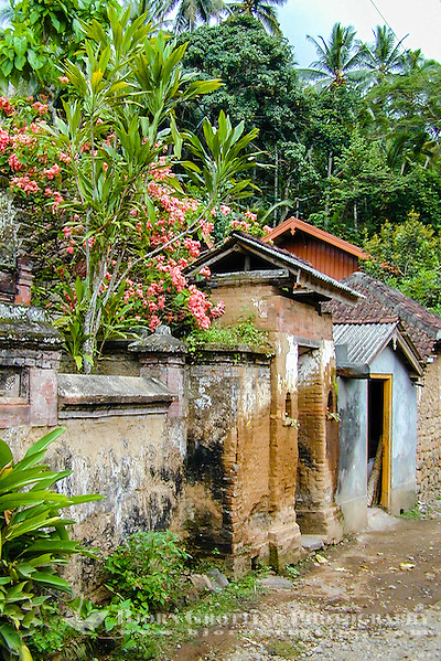 Bali, Karangasem, Tenganan. A traditional Bali Aga village. The buildings are mainly built of bricks and stone. (Photo Bjorn Grotting)