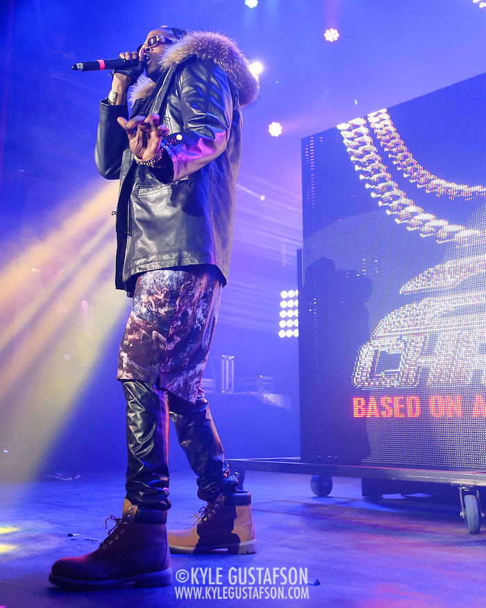 SILVER SPRING, MD- January 19th, 2013 - Atlanta rapper 2 Chainz performs at the Fillmore SIlver Spring in Silver Spring, MD. 2012 was a banner year for the rapper. He was nominated for 13 BET Hip Hop Awards and three Grammy's as well as signing an endorsement deal with Adidas. ( Photo by Kyle Gustafson/For The Washington Post) (Kyle Gustafson/For The Washington Post)