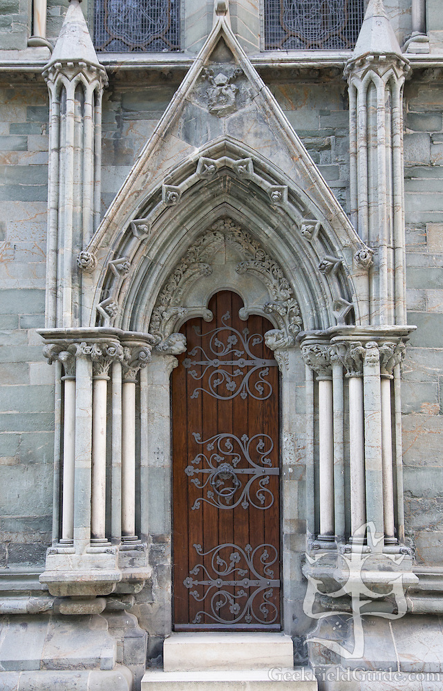 One of the ornate doors of the Nidaros Cathedral. (Warren Schultz)