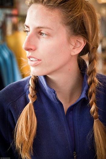 Daphne Berger at Snow Cafe, Anchorage (Clark James Mishler)