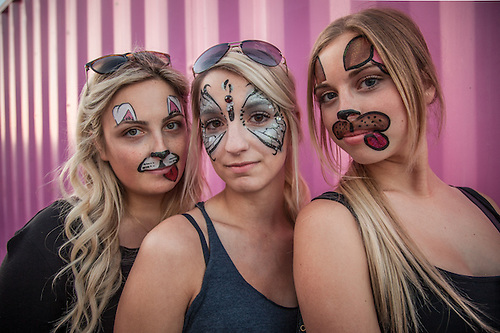 University of Alaska students Bella, Molly and Chloe spend the day at the Alaska State Fair (Clark James Mishler)