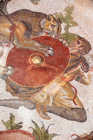 Hunters - Ancient Roman mosaics at the Villa Romana del Casale, Sicily, Italy (Paul Williams)