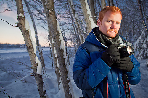 Photographer, Graham Thatcher, near Westchester Lagoon, Anchorage (Clark James Mishler)