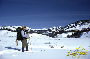 Ski Mountaineering, A cross country skier Daryl Hunter off for a winter camping trip. (Daryl Hunter)