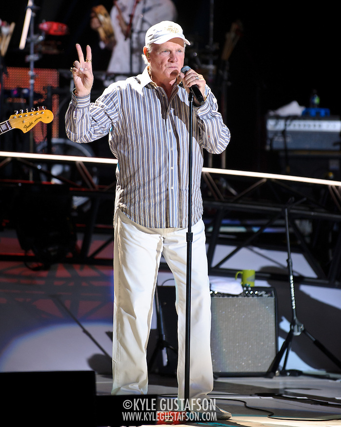 COLUMBIA, MD - June 15th, 2012 - Mike Love of The Beach Boys performs at Merriweather Post Pavilion as part of the band's 50th Anniversary Reunion Tour. This tour marks the first time chief songwriter Brian Wilson has done a full range of dates with the band since 1965. (Photo by Kyle Gustafson/For The Washington Post) (Kyle Gustafson/For The Washington Post)