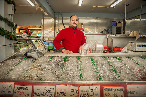 Hyman the fishmonger at Concord Produce, Concord, CA (Clark James Mishler)