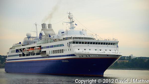 M/V Explorer Turning to Dock in Halifax, Nova Scotia. Image taken with a Nikon D800 and 70-300 mm VR lens (ISO 100, 110 mm, f/5, 1/400 sec). (David J Mathre)