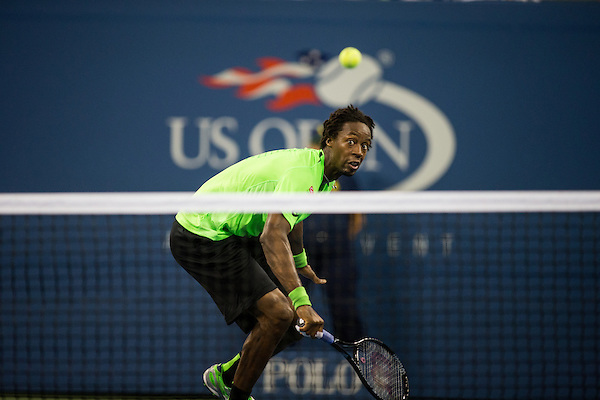 Gael Monfils, 2014 U.S. Open Men's Quarterfinal. Photographed at the Billie Jean King National Tennis Center in Queens, NY, USA 9/4/2014. © 2014 Darren Carroll (Darren Carroll/Sports Illustrated)