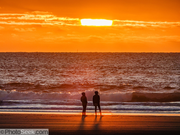 Sunset at Beverly Beach State Park Campground, Newport, Oregon coast, USA. (© Tom Dempsey / PhotoSeek.com)