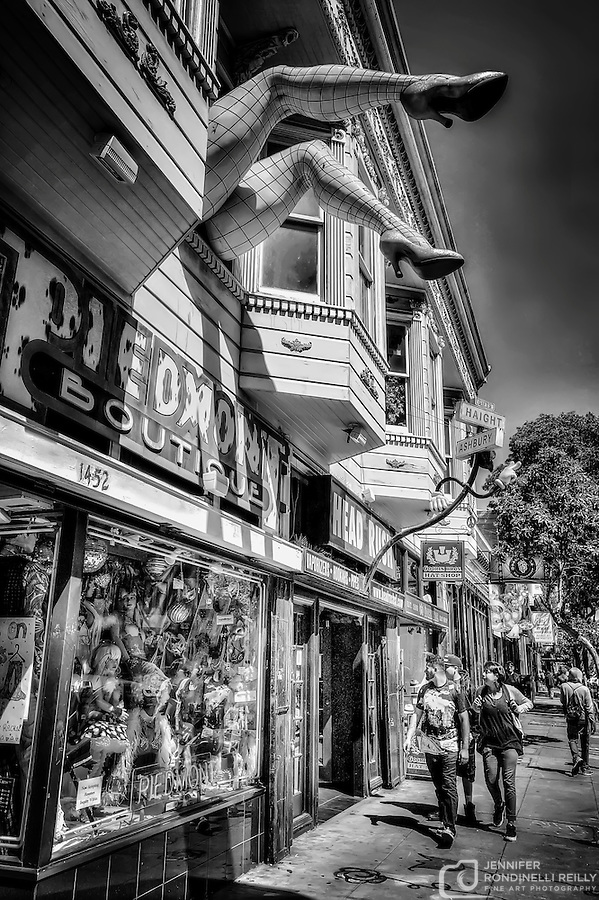 Colorful store fronts found in San Francisco's Haight District. Photo by Jennifer Rondinelli Reilly. (Jennifer Rondinelli Reilly)