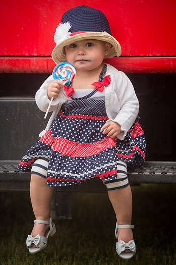 One and a half year old Ryden Thompson at the Fourth of July celebration, Anchorage (Clark James Mishler)