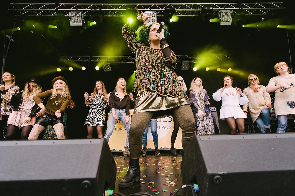 Photos of Reykjavíkurdætur performing live at Secret Solstice Music Festival 2014 in Reykjavík, Iceland. June 21, 2014. Copyright © 2014 Matthew Eisman. All Rights Reserved (Matthew Eisman/Photo by Matthew Eisman)