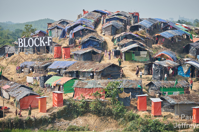 A section of the Jamtoli Refugee Camp near Cox's Bazar, Bangladesh. More than 600,000 Rohingya have fled government-sanctioned violence in Myanmar for safety in Bangladesh. (Paul Jeffrey)