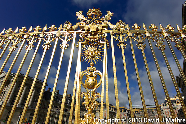 Gilded Gold Fence at the Versailles Palace. Image taken with a Nikon N1 V2 camera at 6.7-13 mm VR lens (ISO 160, 6.7 mm, f/7, 1/1600 sec). (David J. Mathre)
