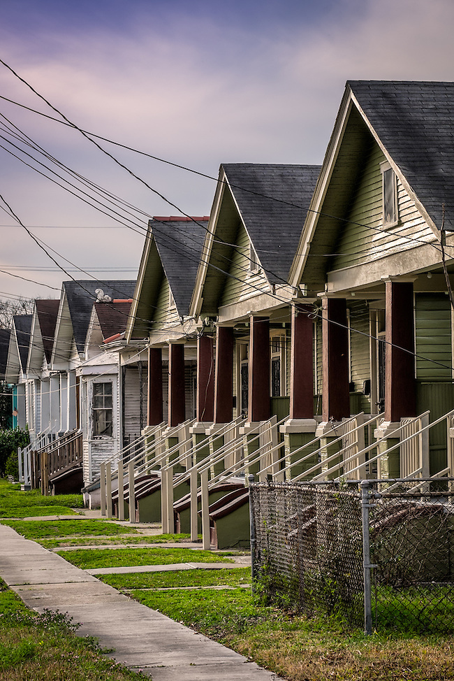 NEW ORLEANS - CIRCA FEBRUARY 2014: View of a typical street and houses in Algiers Point, a popular community within the city of New Orleans in Louisiana. (Daniel Korzeniewski)