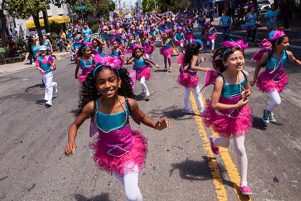 The 35th Annual San Francisco Carnaval was held Sunday May 26, 2013 in San Francisco's Mission District. My children danced with the local Fogo na Roupa. (bryan farley)