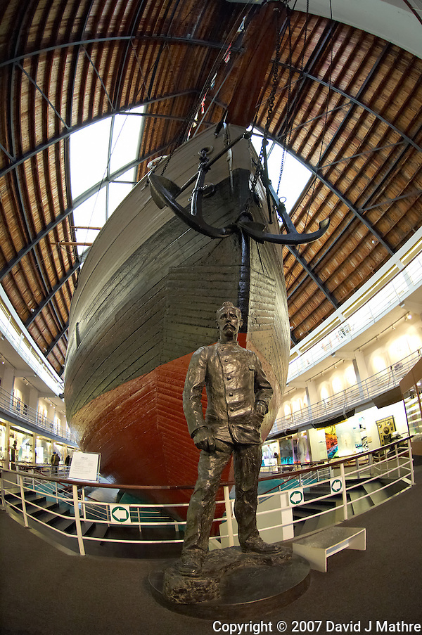 Roald Amundsen. Arctic Museum, Winter in Oslo Norway (David J Mathre)