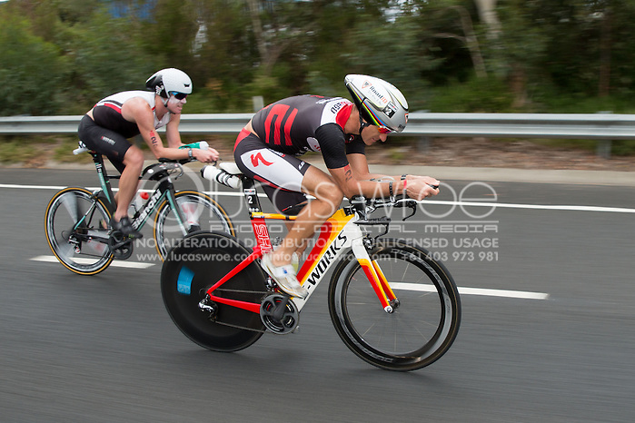 Craig Alexander (AUS), March 23, 2014 - Ironman Triathlon : Bike Course. Ironman Melbourne Race, Bike Cycle Course Between Frankston And Ringwood Tunnel, Melbourne, Victoria, Australia. Credit: Lucas Wroe (Lucas Wroe)