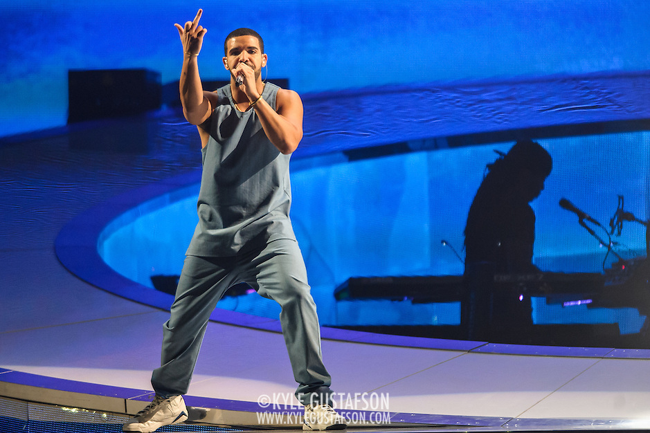 "WASHINGTON, DC - October 31st, 2013 -  Drake performs at the Verizon Center in Washington,D.C. as part of his ""Would You Like A Tour?"" tour. Drake's latest album, Nothing Was The Same, was released in September and debuted at at number one on the US Billboard 200 album chart.  (Photo by Kyle Gustafson / For The Washington Post) (Kyle Gustafson/For The Washington Post)"