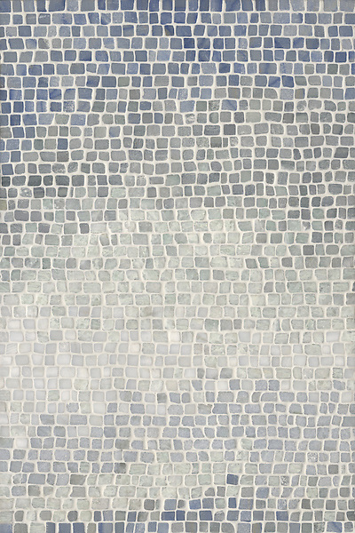 Name: Mist 1.0 cm (hand chopped-tumbled) Style: Metamorphosis Product Number: CB0622 Description: Mist 1.0 cm in Blue Macauba, Kay's Green, Celeste, Ming Green, Lettuce Ming (hct) (New Ravenna Mosaics)