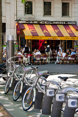 bike hire in Paris France in May 2008 (Christopher Holt LTD - LondonUK, Christopher Holt LTD/Image by Christopher Holt - www.christopherholt.com)