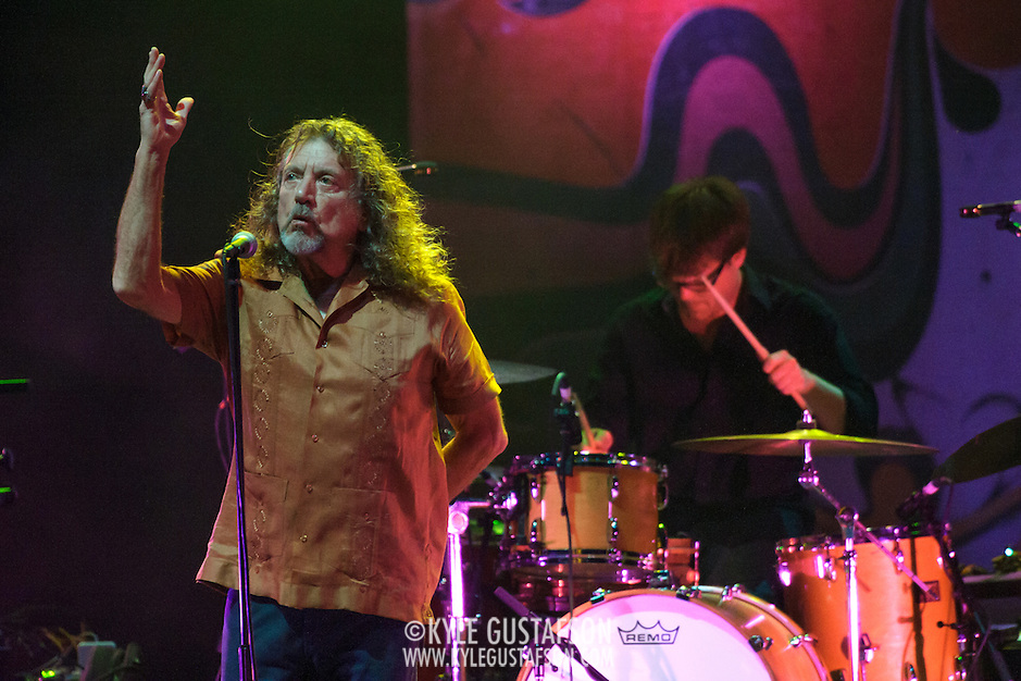 VIENNA, VA - July 22nd,  2013 -  Robert Plant and Dave Smith perform at The Filene Center at Wolf Trap. Plant, the former Led Zeppelin singer and songwriter is currently touring with his new band, the Sensational Shape Shifters. (Photo by Kyle Gustafson/For The Washington Post) (Kyle Gustafson/FTWP)