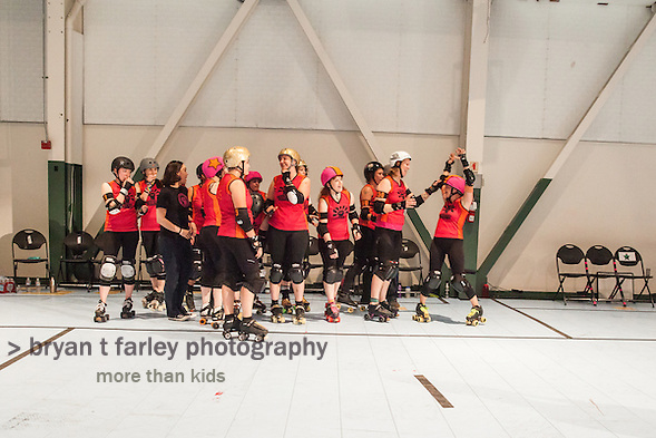 The Berkeley Resistance Defeats the San Francisco ShEvil Dead 205 to 153 in 2014 Bay Area Derby Girls Season Opener on Saturday March 1, 2014 in Richmond, California. (bryan farley)