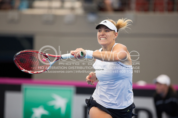 Angelique Kerber (GER), April 20, 2014 - TENNIS : Fed Cup, Semi-Final, Australia v Germany. Pat Rafter Arena, Brisbane, Queensland, Australia. Credit: Lucas Wroe (Lucas Wroe)