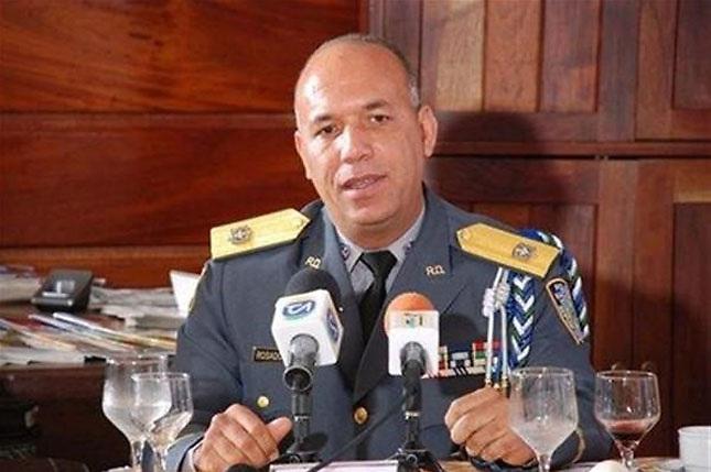 Mayor general Rolando Rosado Mateo, cuando presidía la DNCD