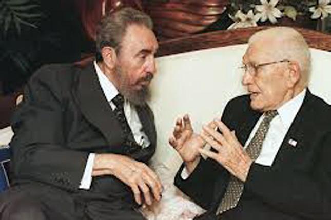 Fidel Castro y Juan Bosch.