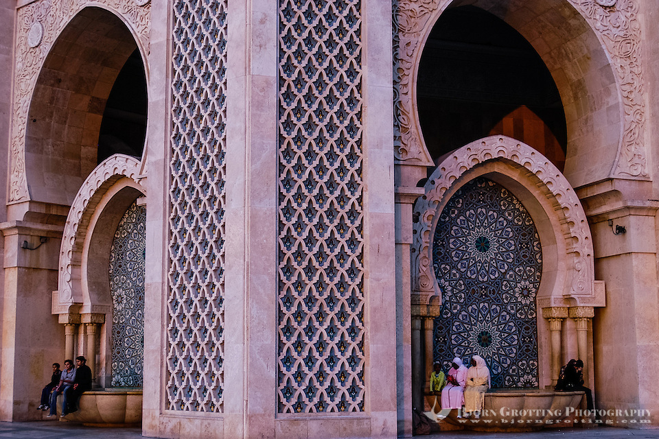 The Hassan II Mosque in Casablanca, Morocco, is the largest mosque in the country and the 7th largest mosque in the world. (Bjorn Grotting)