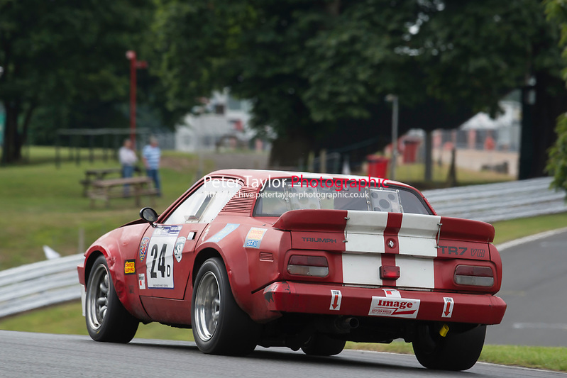 #24 Ralph Underwood Triumph TR7 V8 5000  during CNC Heads Sports / Saloon Championship as part of the BARC National Car and Kart Championships Race Day at Oulton Park, Little Budworth, Cheshire, United Kingdom. July 08 2017. World Copyright Peter Taylor/PSP. Copy of publication required for printed pictures.  Every used picture is fee-liable. http://archive.petertaylor-photographic.co.uk (Peter Taylor/PSP)