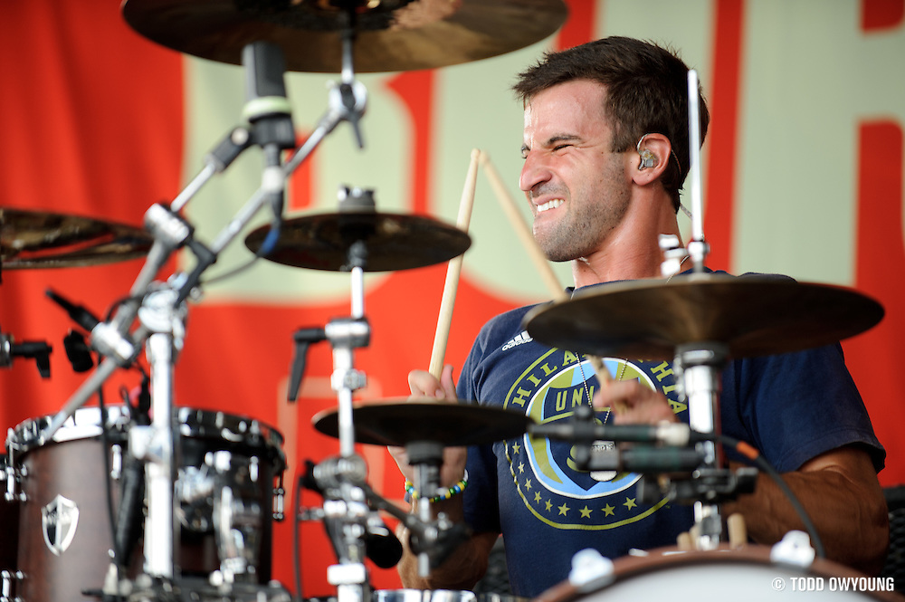 August Burns Red performing on Warped Tour at Verizon Wireless Amphitheater in St. Louis, Missouri on August 3, 2011. © Todd Owyoung. (Todd Owyoung)