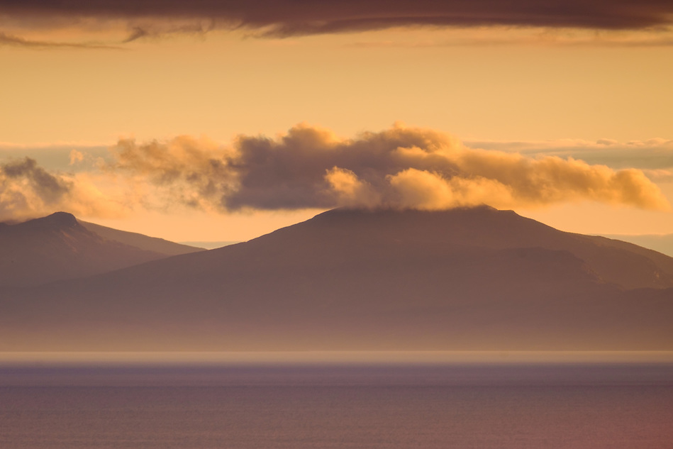 SCOTLAND - CIRCA APRIL 2016: View of North Uist at sunset from the Neist Point Lighthouse in Skye an Island in Scotland (Daniel Korzeniewski)