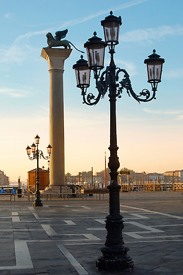 Sunrise at Saint Marks's Square with Lion Pillar - Venice - Italy (Paul Williams)