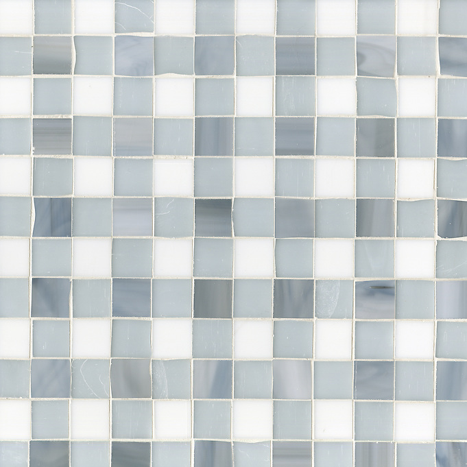 Bonnie Jewel glass mosaic field shown in Pearl, Moonstone and Opal. (New Ravenna Mosaics 2012)