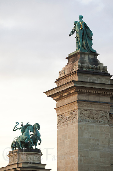 09 SEP 2010 - BUDAPEST, HUN - Heroes Square .(PHOTO (C) NIGEL FARROW) (NIGEL FARROW/(C) 2010 NIGEL FARROW)