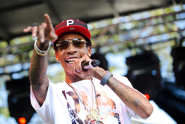 Columbia, MD - August 30th, 2010:  Pittsburgh-based rapper Wiz Khalifa performed on the Paid Dues stage while the crowd waited for Lauren Hill to decide if she would perform or not. (Photo by Kyle Gustafson/For The Washington Post) (Photo by Kyle Gustafson/For The Washington Post)