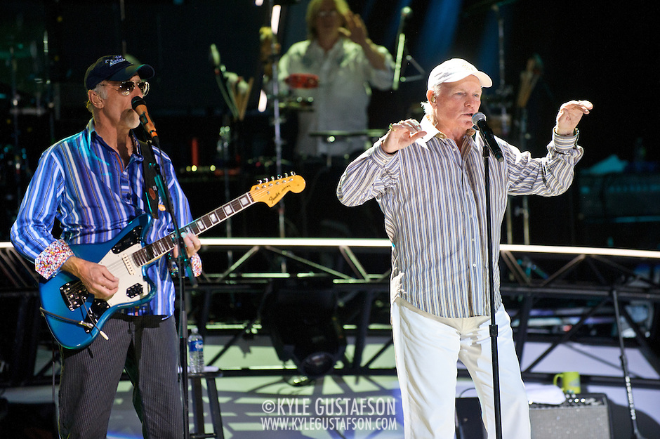 COLUMBIA, MD - June 15th, 2012 - David Marks (L) and Mike Loveof The Beach Boys perform at Merriweather Post Pavilion as part of the band's 50th Anniversary Reunion Tour. This tour marks the first time chief songwriter Brian Wilson has done a full range of dates with the band since 1965. (Photo by Kyle Gustafson/For The Washington Post) (Kyle Gustafson/For The Washington Post)