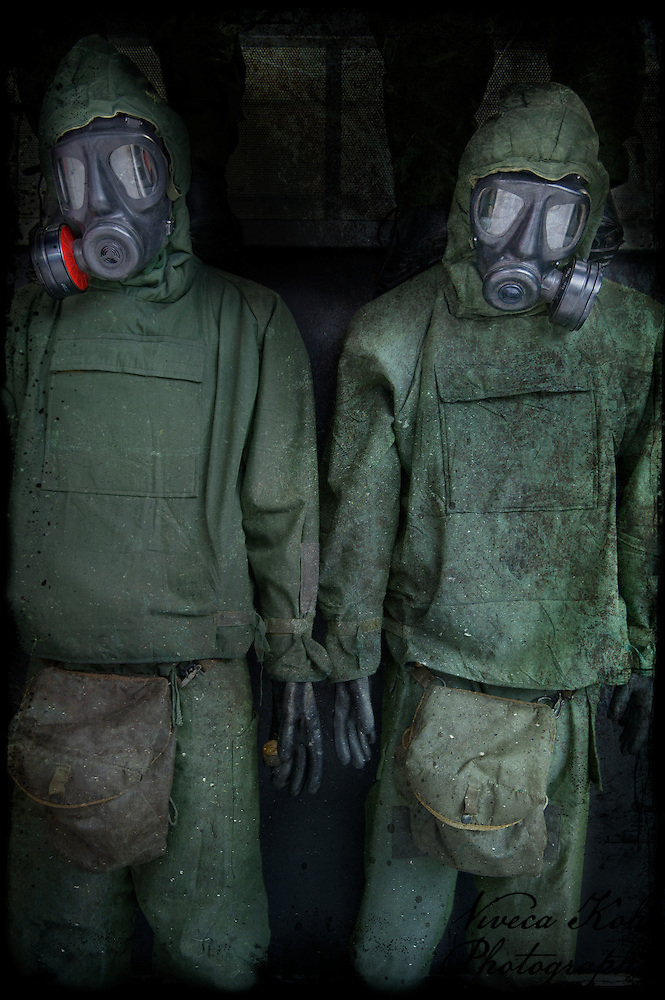 Garments for soldiers ready for gas attack (Viveca Koh)