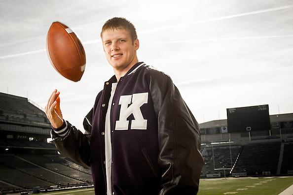 MANHATTAN, KS - DECEMBER 2: Collin Klein, Kansas State quarterback, photographed at Bill Snyder Family Stadium in Manhattan, Kansas on December 2, 2012. Photograph © 2012 Darren Carroll (Darren Carroll)