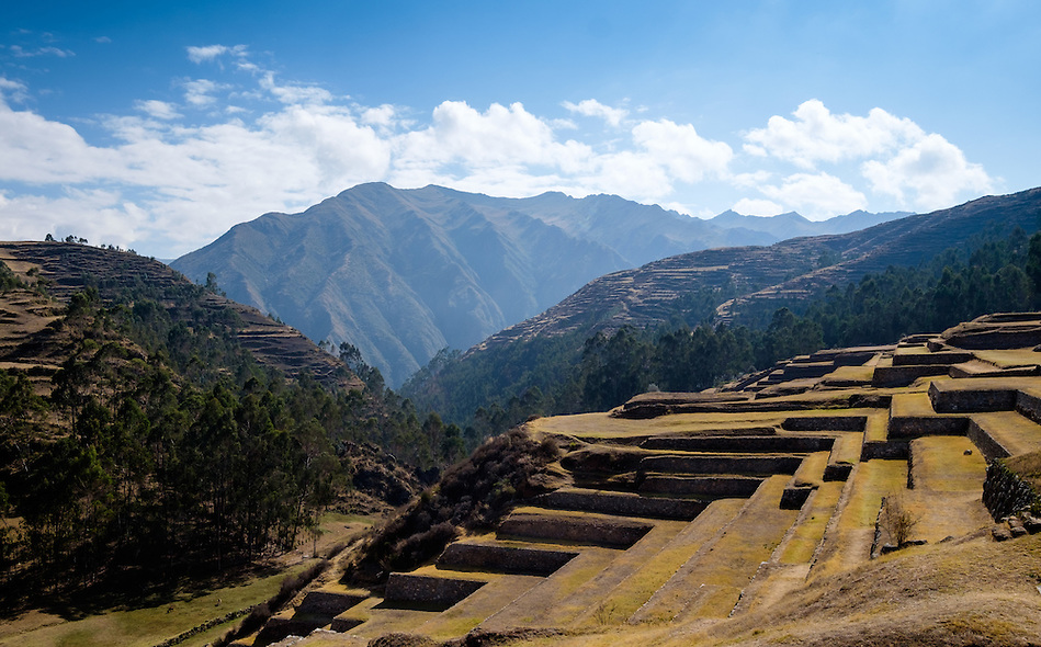 CHINCHERO, PERU - CIRCA OCTOBER 2015: Inca Terraces in Chinchero on the Cusco region known as Sacred Valley (Daniel Korzeniewski)