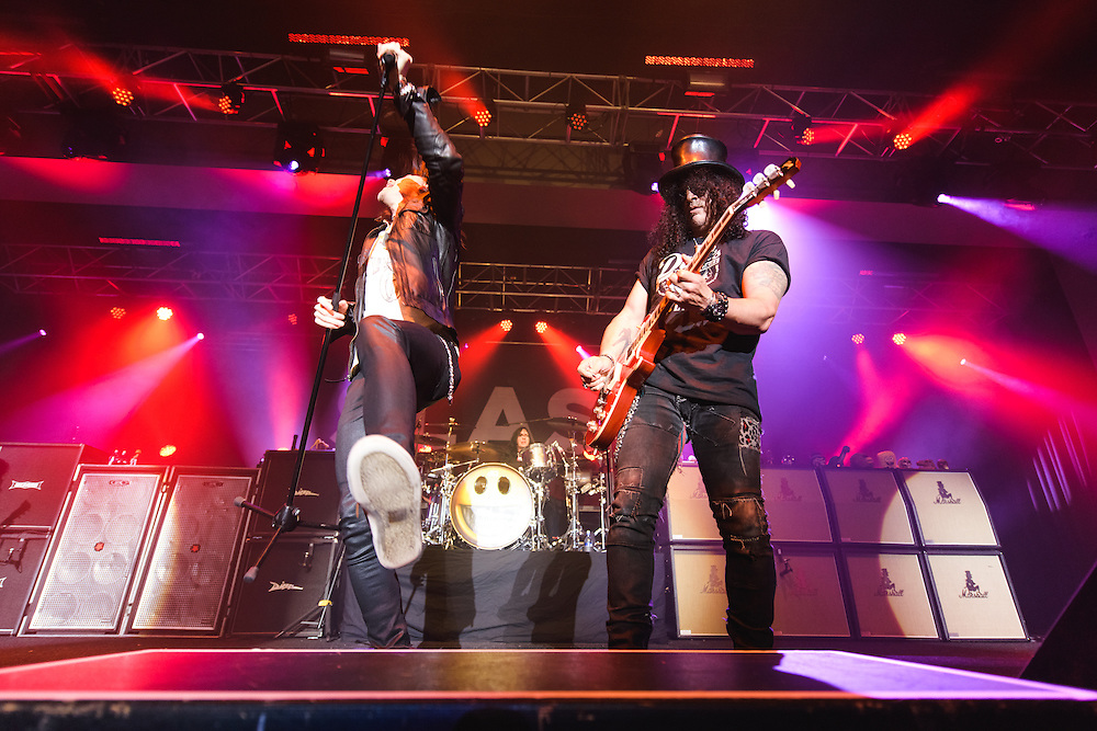 Photos of Slash featuring Myles Kennedy & The Conspirators performing live on the World On Fire Tour 2014 at Laugardalshöll in Reykjavik, Iceland. December 6, 2014. Copyright © 2014. Matthew Eisman. All Rights Reserved (Matthew Eisman/Photo by Matthew Eisman)