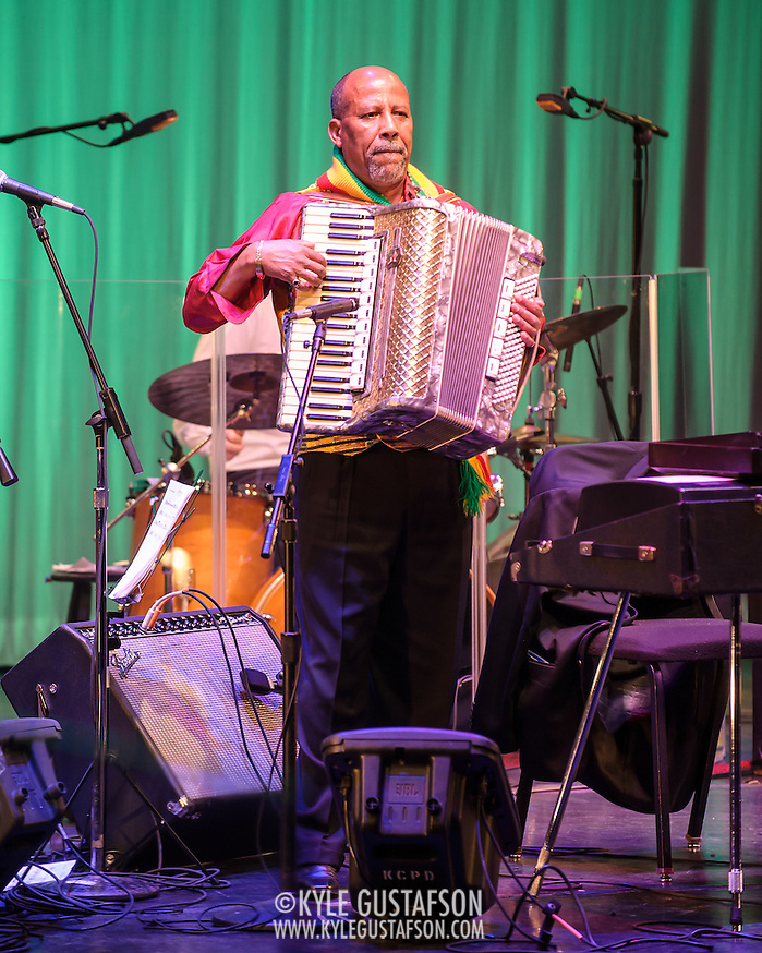 WASHINGTON, DC - February 11th, 2014 - Hailu Mergia performs on the Millennium Stage at the Kennedy Center. Mergia, a star of Ethiopian music in the 1970s as a member of the Walias Band, now drives a cab in Washington, D.C. (Photo by Kyle Gustafson / For The Washington Post) (Kyle Gustafson/For The Washington Post)