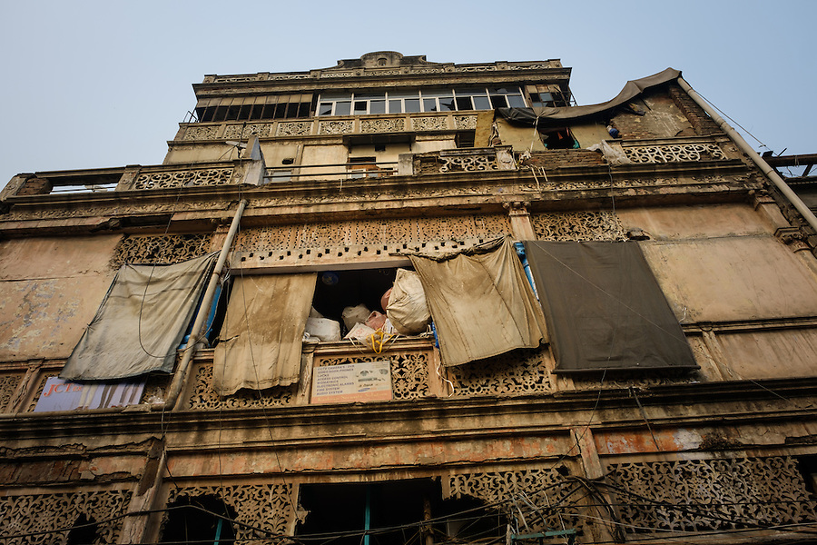 NEW DELHI, INDIA - CIRCA OCTOBER 2016: Typical facade in Chandni Chowck Delhi. (Daniel Korzeniewski)